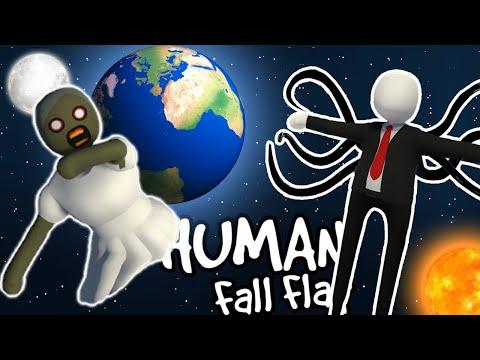 GRANNY AND SLENDER MAN SPACE TRAVEL – Human Fall Flat