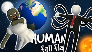 GRANNY AND SLENDER MAN SPACE TRAVEL - Human Fall Flat