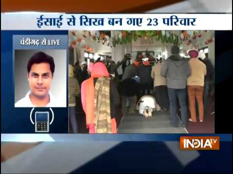 Religious Conversion: 128 Christians Re-converted to Sikhism in Amritsar - India TV