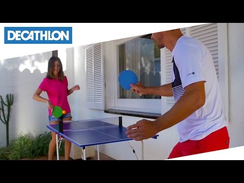 Tavolo Da Ping Pong Ft Mini Artengo Decathlon Italia Youtube