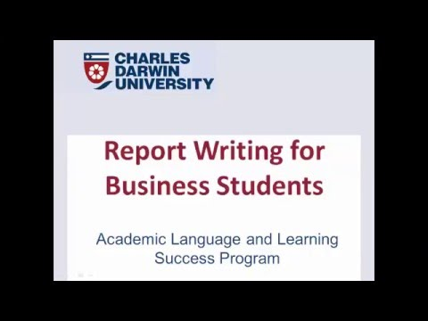 report writing for business students youtube