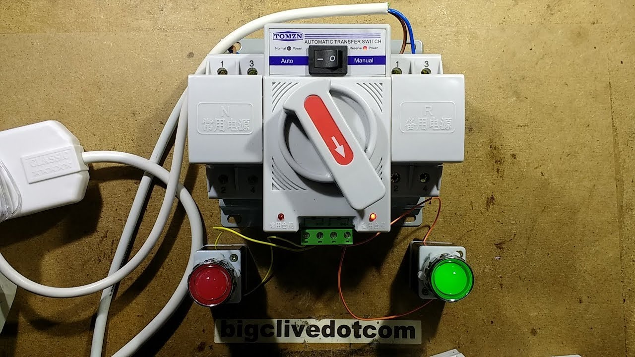 Automatic generator changeover switch (with schematic