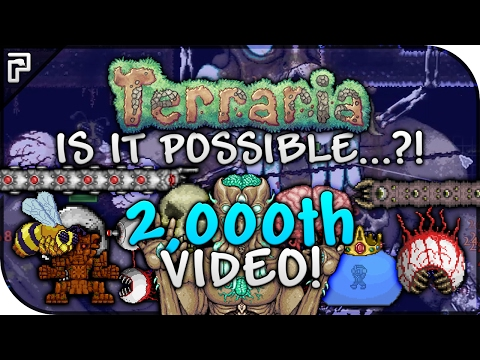 🌳 PythonGB's 2,000th Video Special! | IS IT POSSIBLE...?! | BEST Weapon In Terraria VS 11 Bosses!