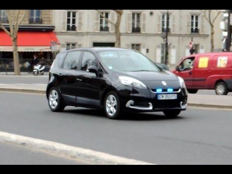 voiture de police banalis e en urgence 2 unmarked paris police car in emergency youtube. Black Bedroom Furniture Sets. Home Design Ideas