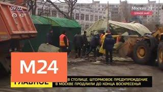 Штормовое предупреждение в Москве продлили до конца воскресенья - Москва 24