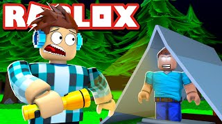 ROBLOX-There's a MADMAN in the CAMP!! (Roblox Camping)