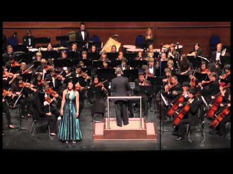 Milena Govich performs with Oklahoma Youth Orchestra