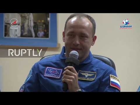 Kazakhstan: ISS Expedition 53-54 holds pre-flight press conference in Baikonur