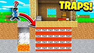 TOP 10 TRAPS You Can Build in Minecraft! (NO MODS!)