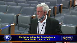 Martin County Board of Commissioners Apr 13,  2021 - Afternoon