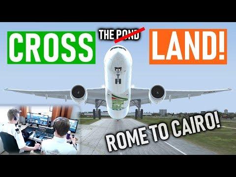 👨✈️✈️👨✈️ Multi Crew VATSIM Flight: Rome to Cairo! - Cross the Land! [P3D V4.4] [PMDG 777-300ER]