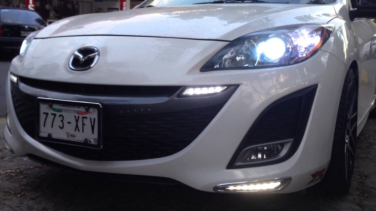 Faros Con Leds Mazda 3 2010 2014 Youtube