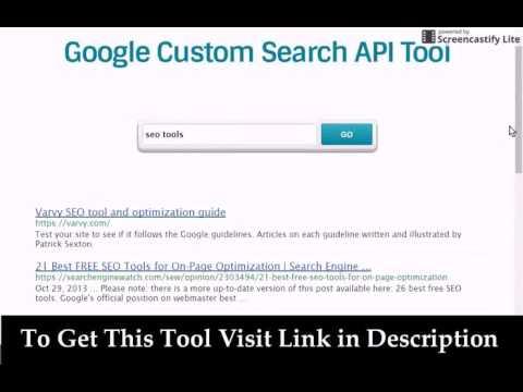 How To Add Google Custom Search using API