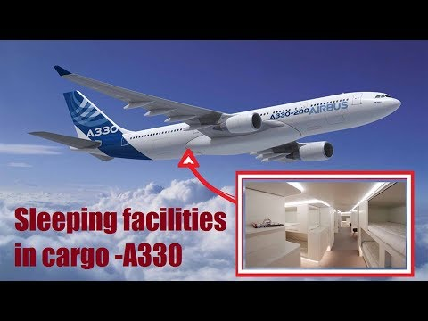 This is how looks an Airbus new lower-deck passenger sleeping facilities in cargo compartment