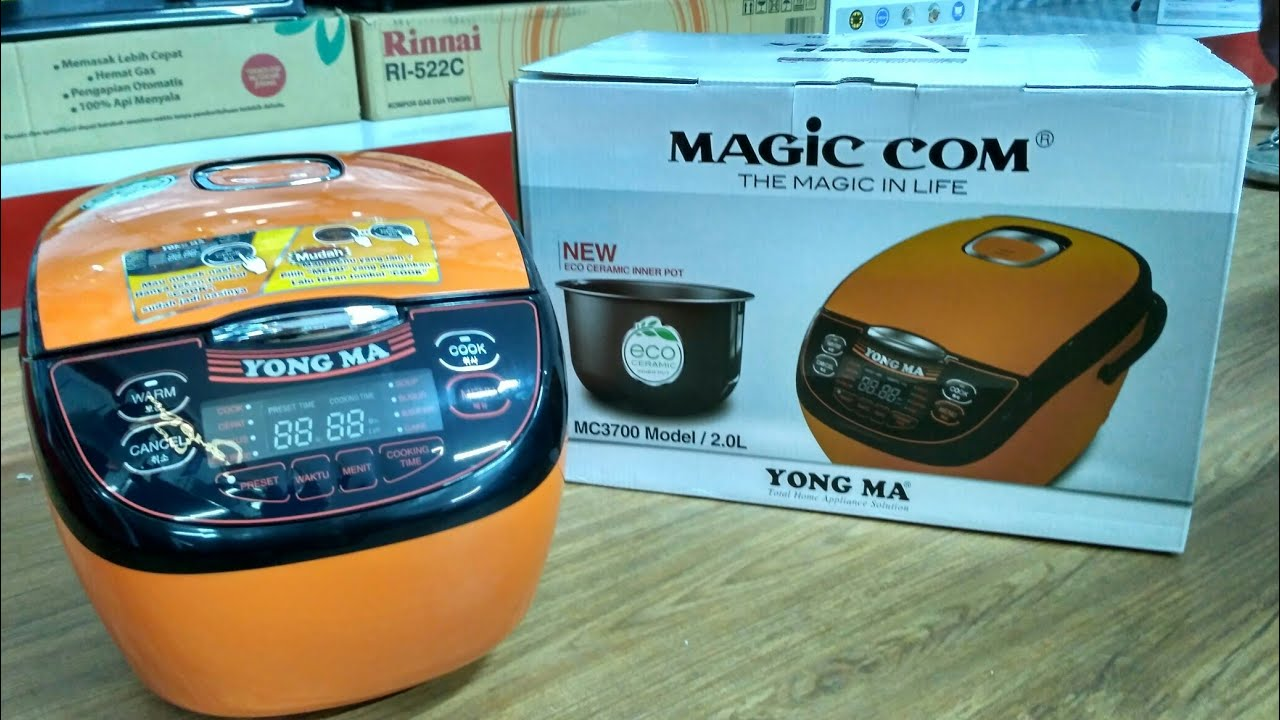 Yong Ma Mc 3700 Digital Magic Com Rice Cooker Eco Ceramic 7 In 1 2 Mc5600r Multi Yongma With Dan Panci
