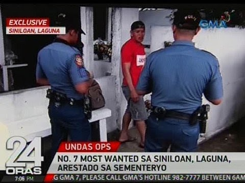 """One of Laguna's """"most wanted"""" caught while visiting loved"""