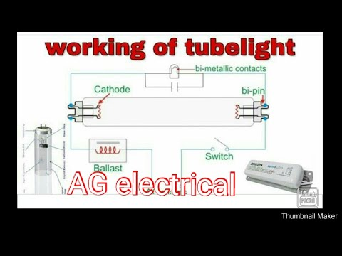 How to connection and working of tube lights magnetic ...