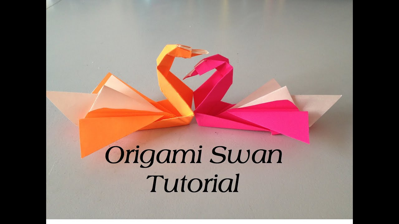 Origami Swan Tutorial (Intermediate) l JasmineStarler ... - photo#4