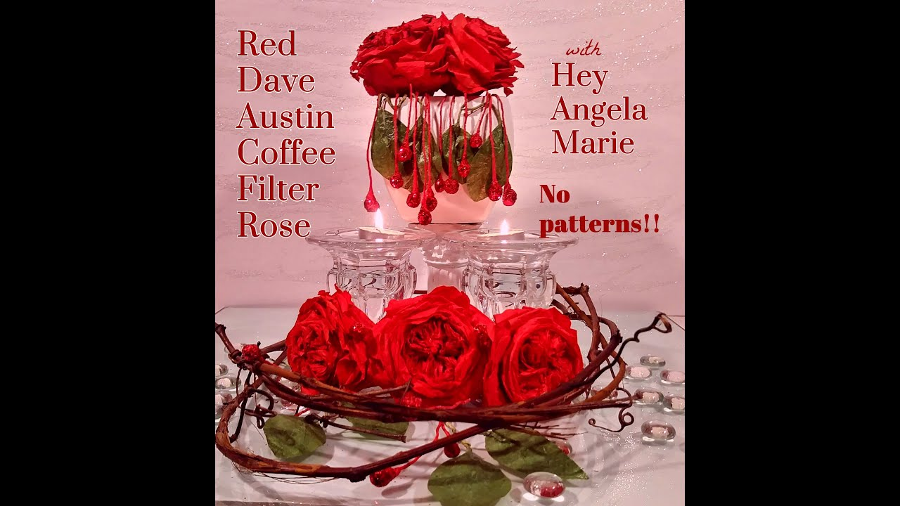 How To Make A Red Coffee Filter David Ausin Cabbage Rose Arrangement