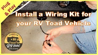 Jeep Towed Vehicle Wiring & Charge Line Install With Hopkins RV Toad 56200 and Roadmaster Charge Kit