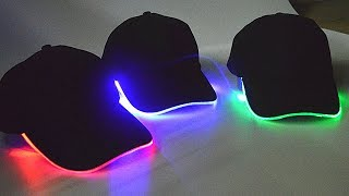 Glowing LED Light Baseball Cap Review
