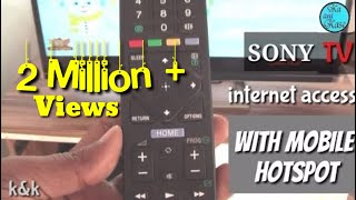 Sony tv internet connection with mobile hotspot