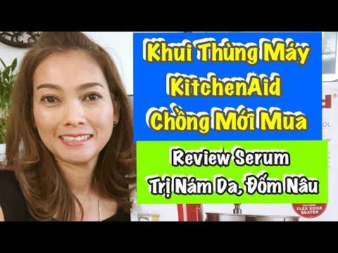 Vlog 368 ♻️ Khui Thùng Máy KitchenAid Chồng Mới Mua Và Review Serum Trị Nám Da, Đốm Nâu