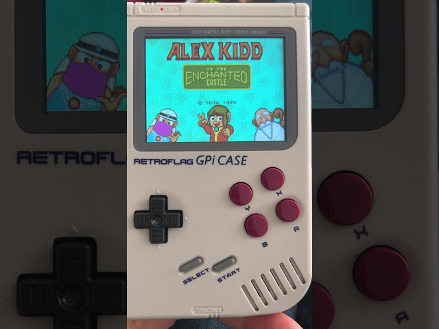 Vidéo Alex Kidd in The Enchanted Castle sur la Retro Gameboy de www.2players.shop
