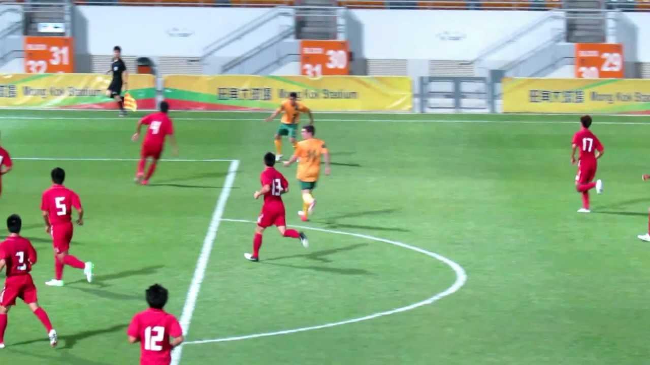 香港u21vs澳洲u19(2012.8.29.國際友誼賽)片段3之單槌打出 - YouTube