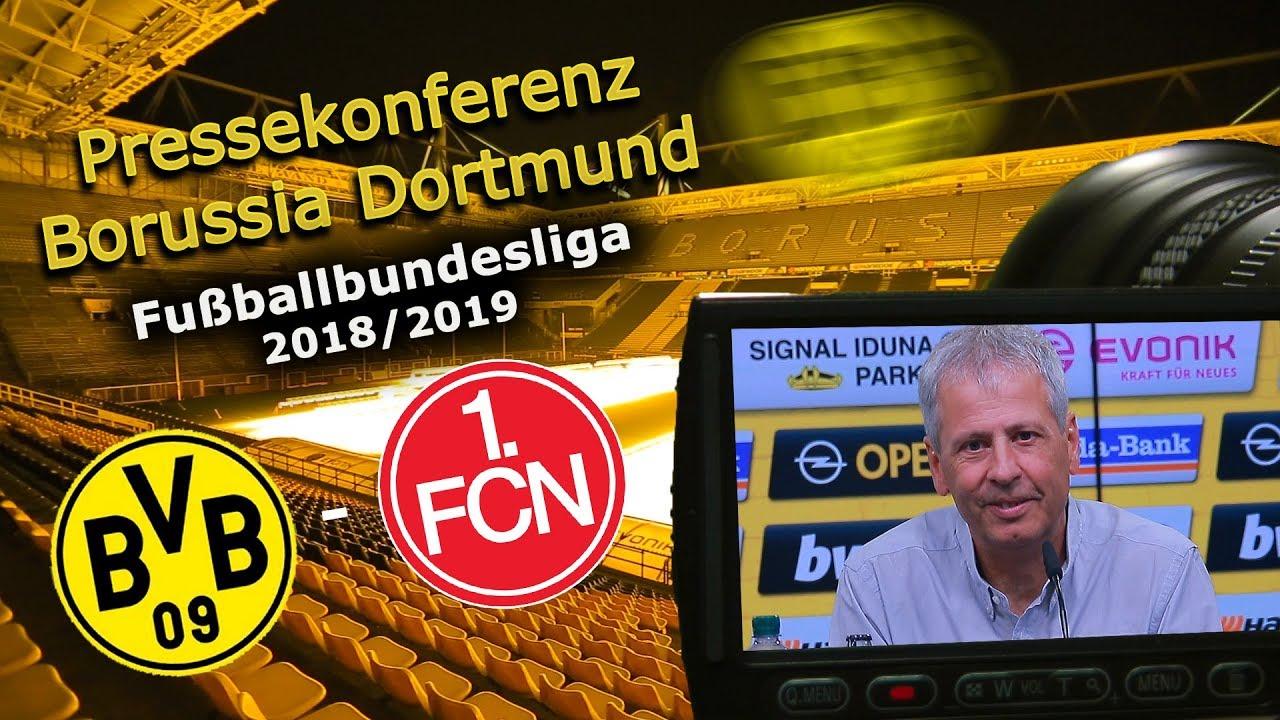 Borussia Dortmund - 1. FC Nürnberg: Pk mit Michael Köllner und Lucien Favre