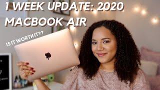 """2020 MACBOOK AIR 13"""" ONE WEEK UPDATE: is it worth it??"""