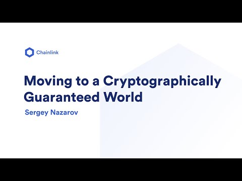 Moving to a Cryptographically Guaranteed World