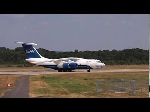 Silkway IL 76 at Farnborough Airport