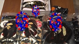 043 bape shaolin   bape   a bathing ape   unboxing   clothing   collection   outfit   pickup  review