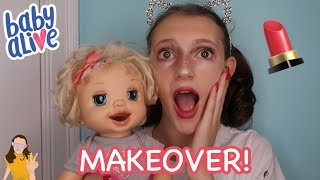 Baby Alive Emma Gives Me a Makeover! | Kelli Maple
