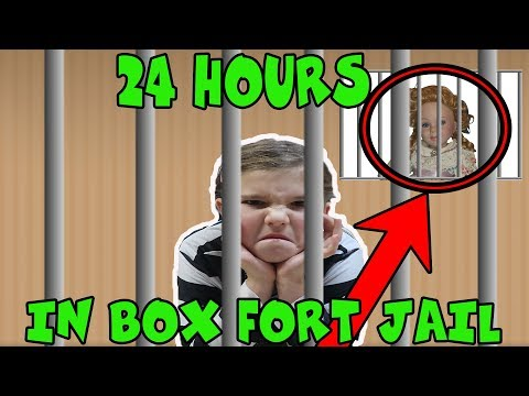 24 Hours In Box Fort Jail In The Kitchen! The Doll Maker Was Watching Me! 24 Hours No Lol Dolls