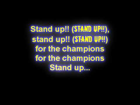 Right Said Fred - Stand Up for the Champions (Lyrics)