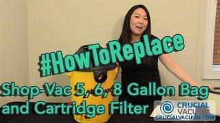 Shop-Vac 5 6 8 Gallon Bag and Cartridge Filter Replacement Part # SV-9066100 90304