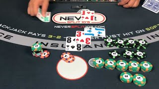 $20,000 Blackjack Win - Crazy up and down session