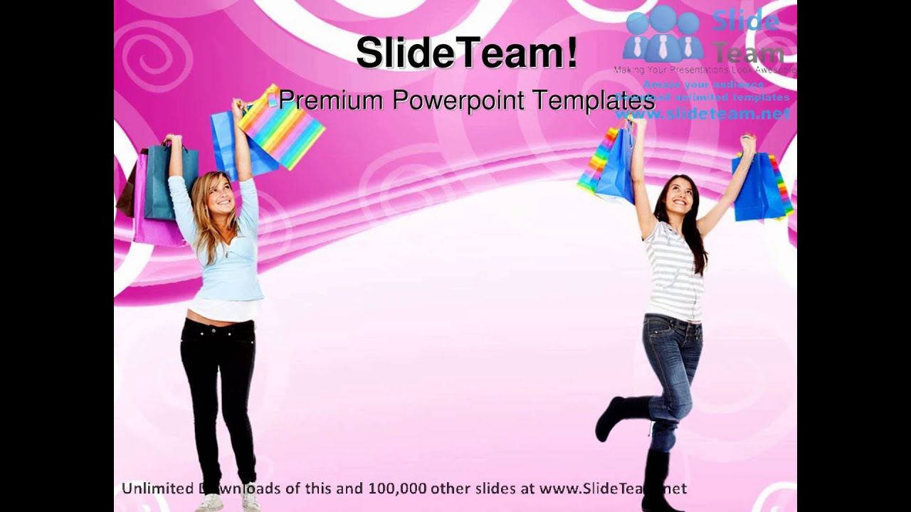 Happy women shopping sales powerpoint templates themes and happy women shopping sales powerpoint templates themes and backgrounds ppt themes youtube alramifo Images
