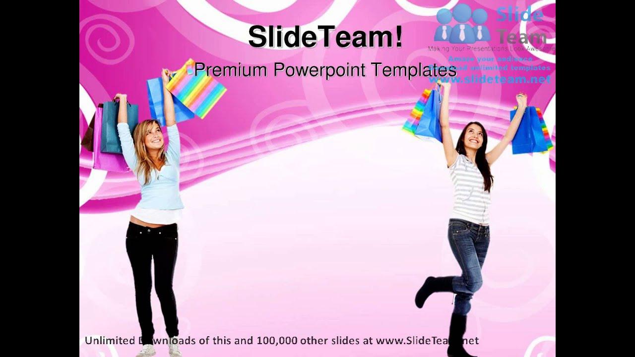 Happy women shopping sales powerpoint templates themes and happy women shopping sales powerpoint templates themes and backgrounds ppt themes youtube toneelgroepblik Gallery