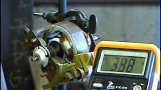 230V  Staubsauger Motor an 570V Extremmotortest Staubsaugertuning
