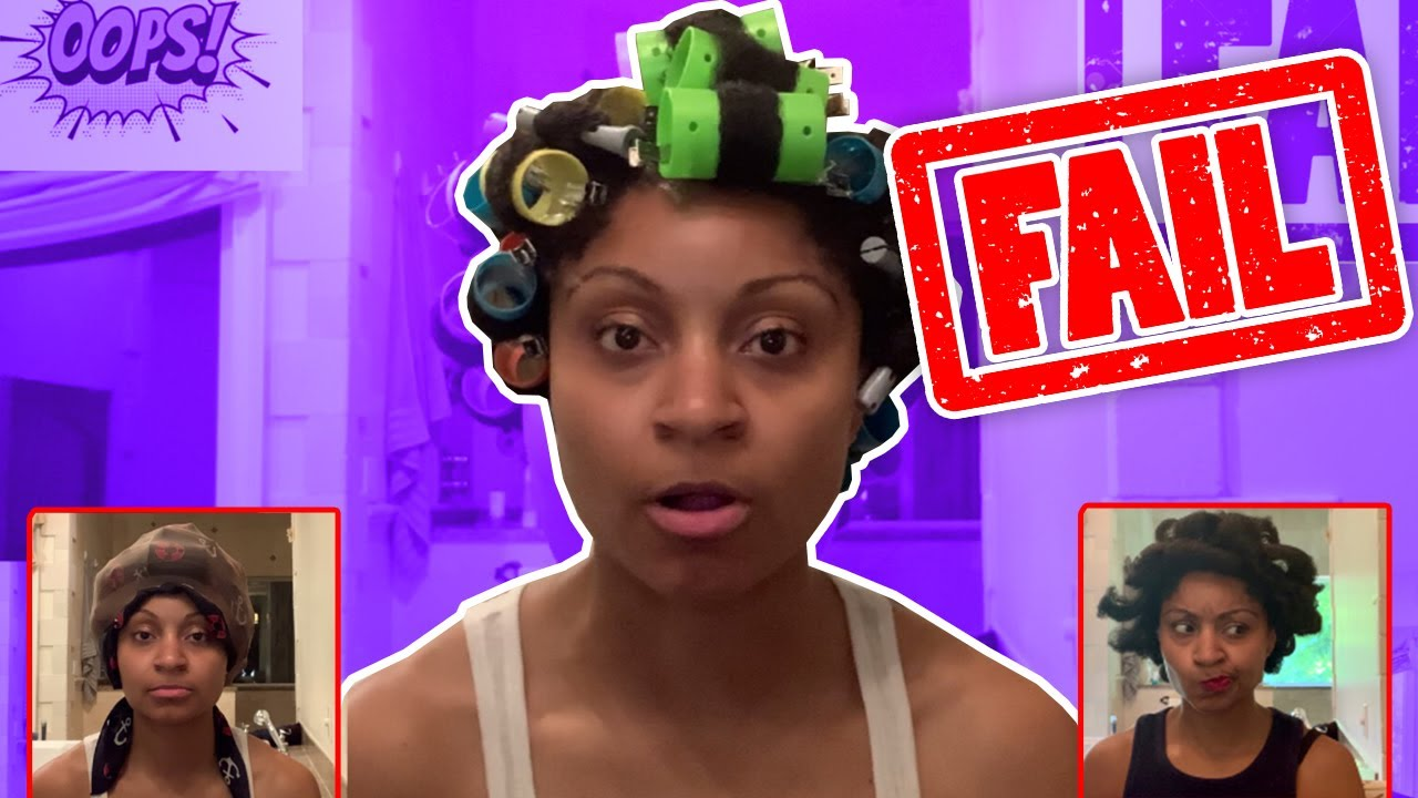 Ponytail Roller Set On Natural Hair Uniqurl Aloemint Youtube