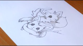 How I draw Minccino and Cinccino (Pokemon).