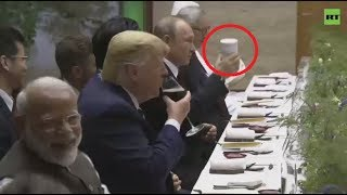 Putin brings his own cup to G20... now everybody wants one