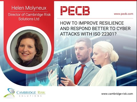 How to improve resilience and respond better to Cyber Attacks with ISO 22301?