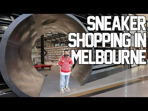 Checking out the sneaker scene in Melbourne (consignment shops and boutiques).