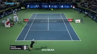 Amazing Andy Murray drop shot to save match point vs Kohlschreiber | Dubai 2017 Quarter-Final