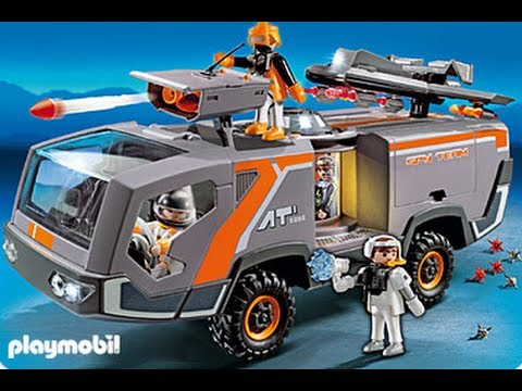Playmobil 5286 camion des agents secrets youtube - Playmobil camion police ...