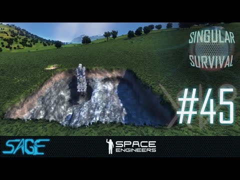 Space Engineers, Time Lapse Mining (Singular Survival, Ep 45)